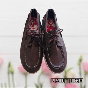 Nautica Boat Shoes Spinnaker Brown Laces
